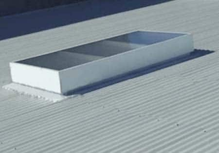 6 layered skylight on a custom orb roof
