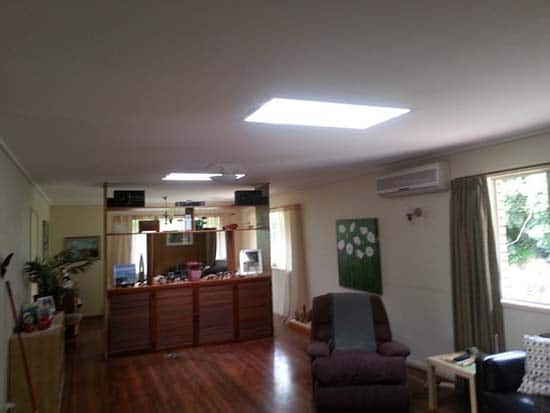 Living Room Large Square Skylight