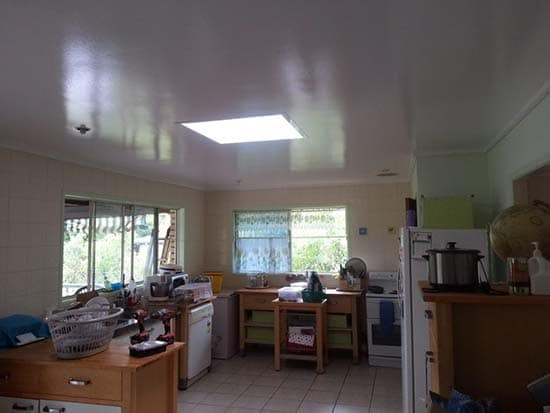 Square Skylight Kitchen