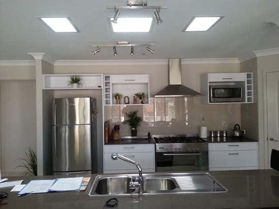Triple Skylight Kitchen
